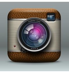 Vintage professional photo camera icon vector image