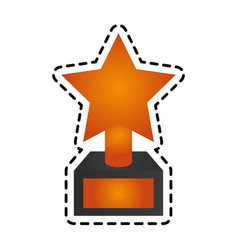 Star trophy icon image vector