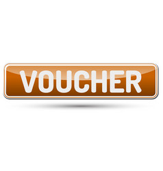 Voucher - abstract beautiful button with text vector