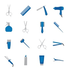 Hairdresser icon flat vector