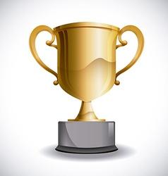trophy design vector image