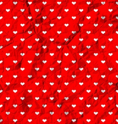 Crumpled polka dot hearts vector image