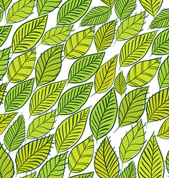 Green leaves seamless background floral seamless vector