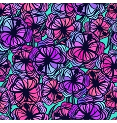 Seamless pattern with stylized colored tropical vector