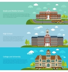 School education high school and university study vector