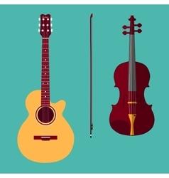 Violin and guitar 1 vector image