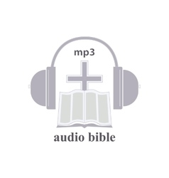 Audio bible icon vector