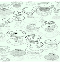 Abstract hud elements on white background high vector