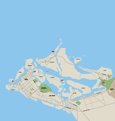Abu dhabi map vector