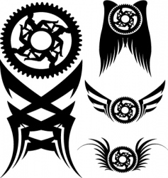 bike parts art vector image