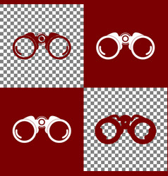 binocular sign bordo and vector image vector image
