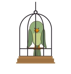 Bird pet shop icon vector