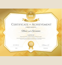 certificate of achievement template with elegant vector image vector image