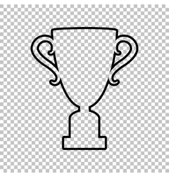 Champions Cup line icon vector image vector image