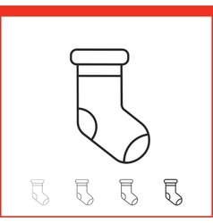 Christmas stocking icon vector