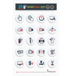 Collection of business icons vector image