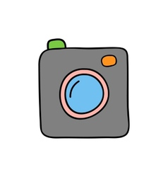 Doodle style camera vector