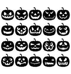 Halloween pumpkin lanterns vector image vector image
