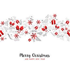 Merry christmas new year holiday decoration card vector