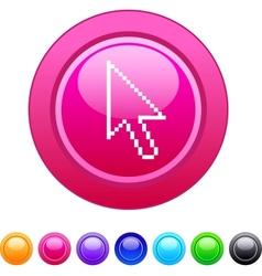 Pixel arrow circle button vector image