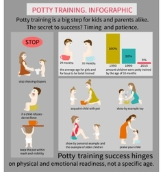 Potty training infographic vector