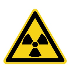radiation sign yellow vector image