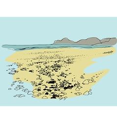 sea vector image vector image