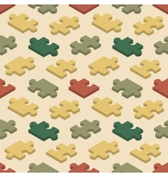 Seamless pattern with the jigsaw puzzle pieces vector image