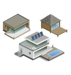 set of modern houses vector image