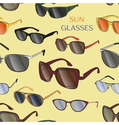 Set of the different sun glasses pattern vector