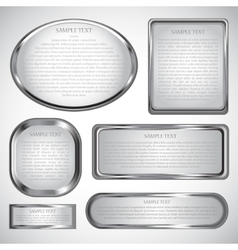 silver label vector image