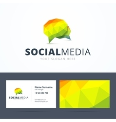 Social media logo and business card template vector image vector image