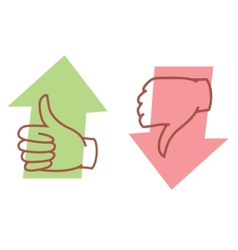 thumbs up or thumbs down vector image vector image