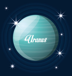 Uranus planet in the solar system creation vector