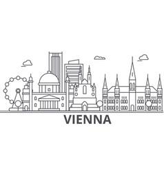vienna architecture line skyline vector image