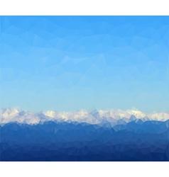 White mountain vector