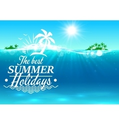 Best summer holidays paradise beach palm island vector