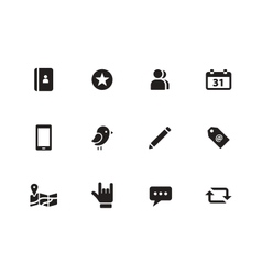 Social icons on white background vector