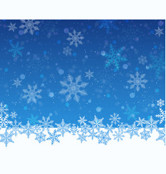 Christmas snowy blue background vector
