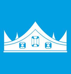 Royal crown icon white vector