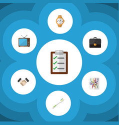 Flat icon oneday set of briefcase partnership vector