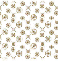 japanese floral seamless pattern in gold vector image