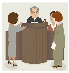 Judge lawyers courtroom vector
