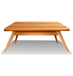 A brown table vector