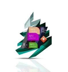 Merry christmas tree with infographics vector