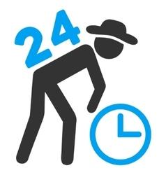 Around The Clock Work Icon vector image