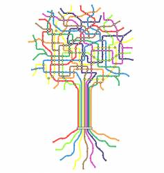subway tree vector image