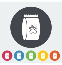Pet food bag vector