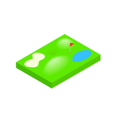 Golf course isometric 3d icon vector