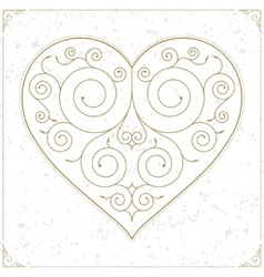 Vintage heart luxury logo sign or symbol vector